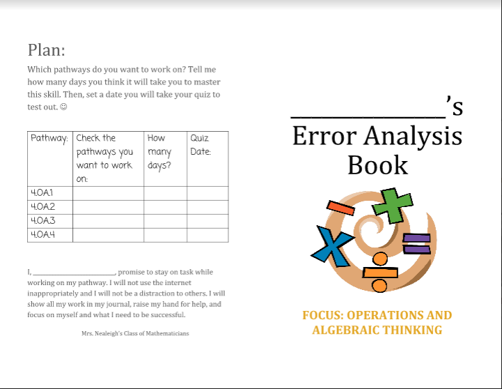 Error Analysis Booklet