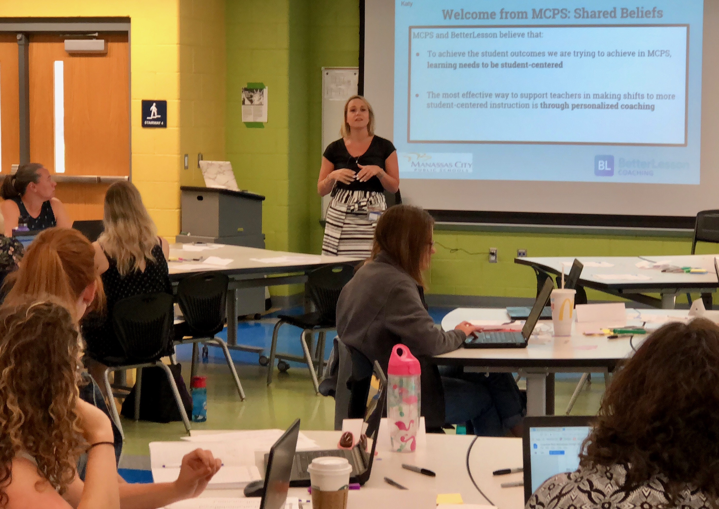 Katey Keegan, Supervisor of Professional Learning for Manassas City Public Schools welcomes new teachers, new coaches and returning ITTS coaches to the Design Studio