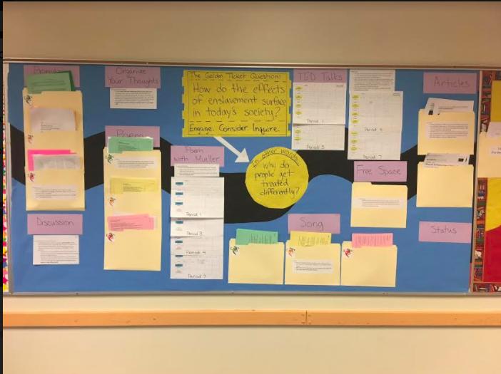 Darcy choice board bulletin board