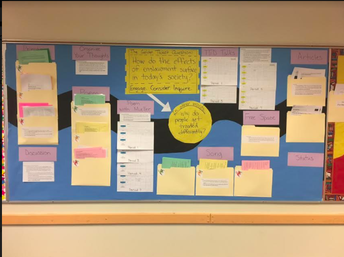 Darcy choice board bulletin board