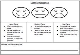 Math Self-Assessment Exit Ticket